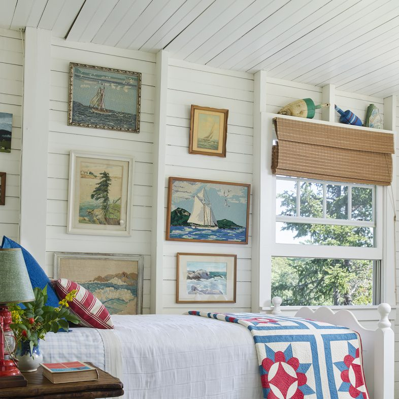 Maine cottage style bedroom at Basque in the Sun
