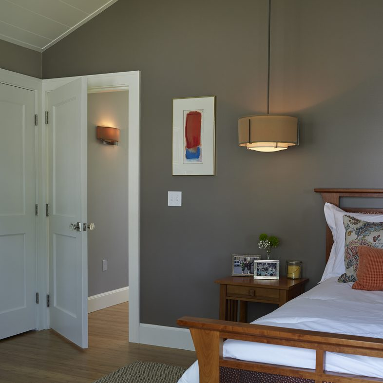 Simple bedroom at Broad Cove