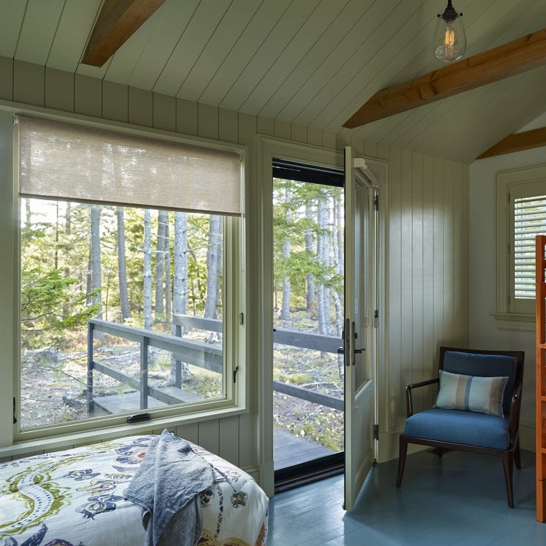 Guest bedroom with outdoor access at Capitol Island