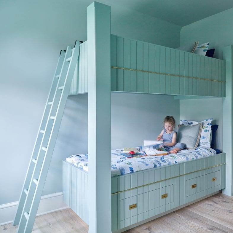 Bunk beds in the guest bedroom at Casino Cottage