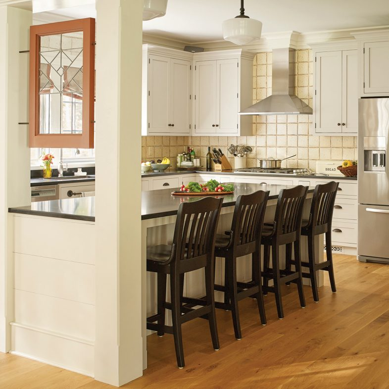 Large bright kitchen with long island at Chestnut Way