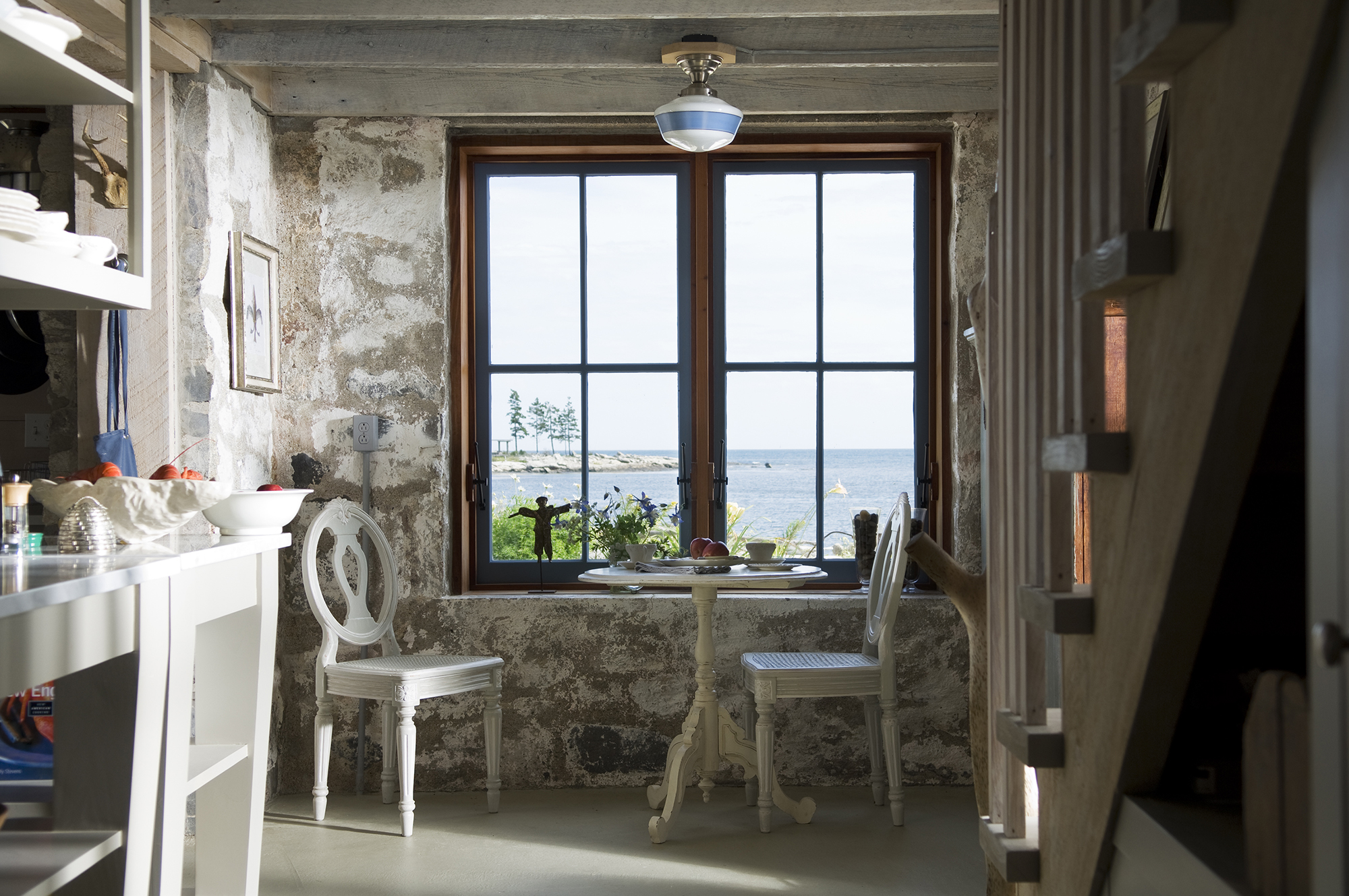View from the hall of the breakfast nook at Hunting Island Cottage