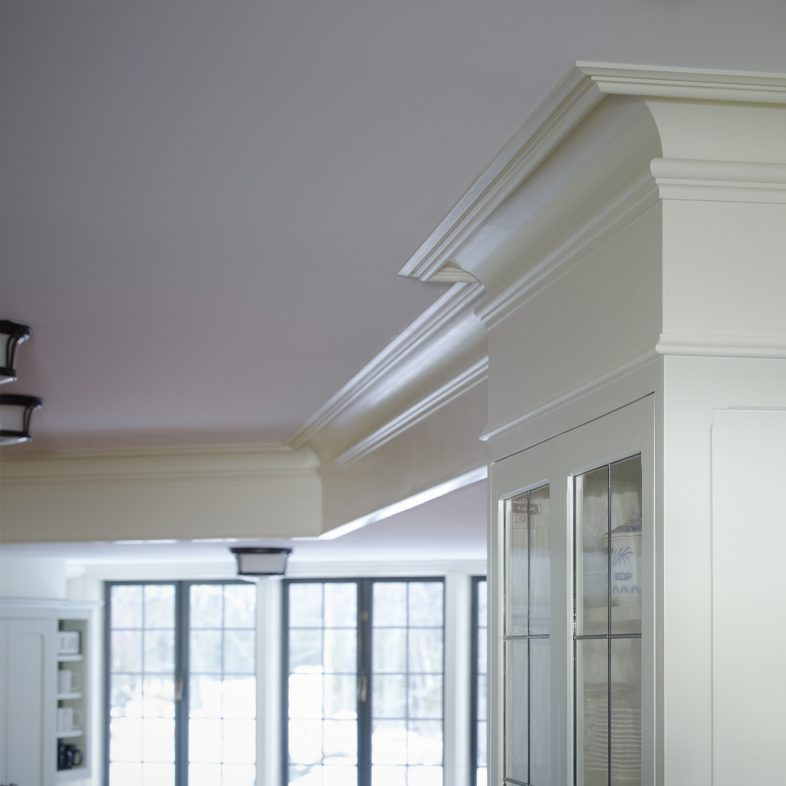 Detailed crown molding at Brambletye