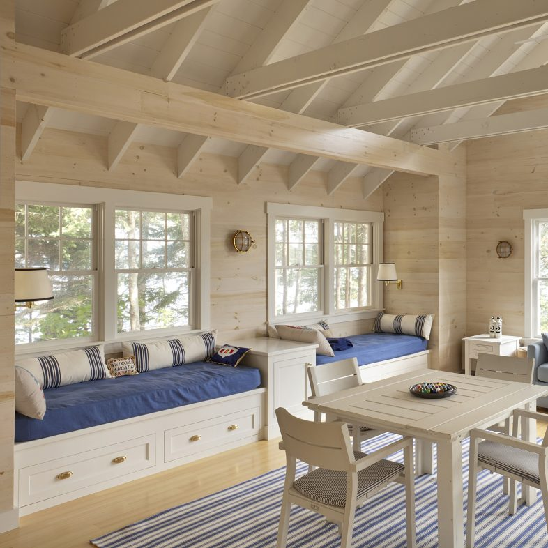 Nautical themed modern cabin with coastal views