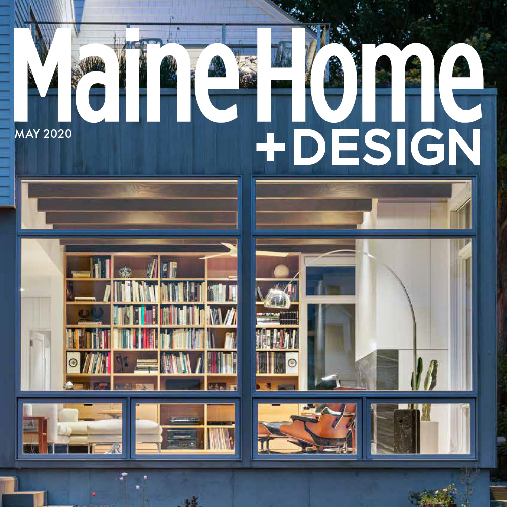 Maine Home and Design magazine cover for May