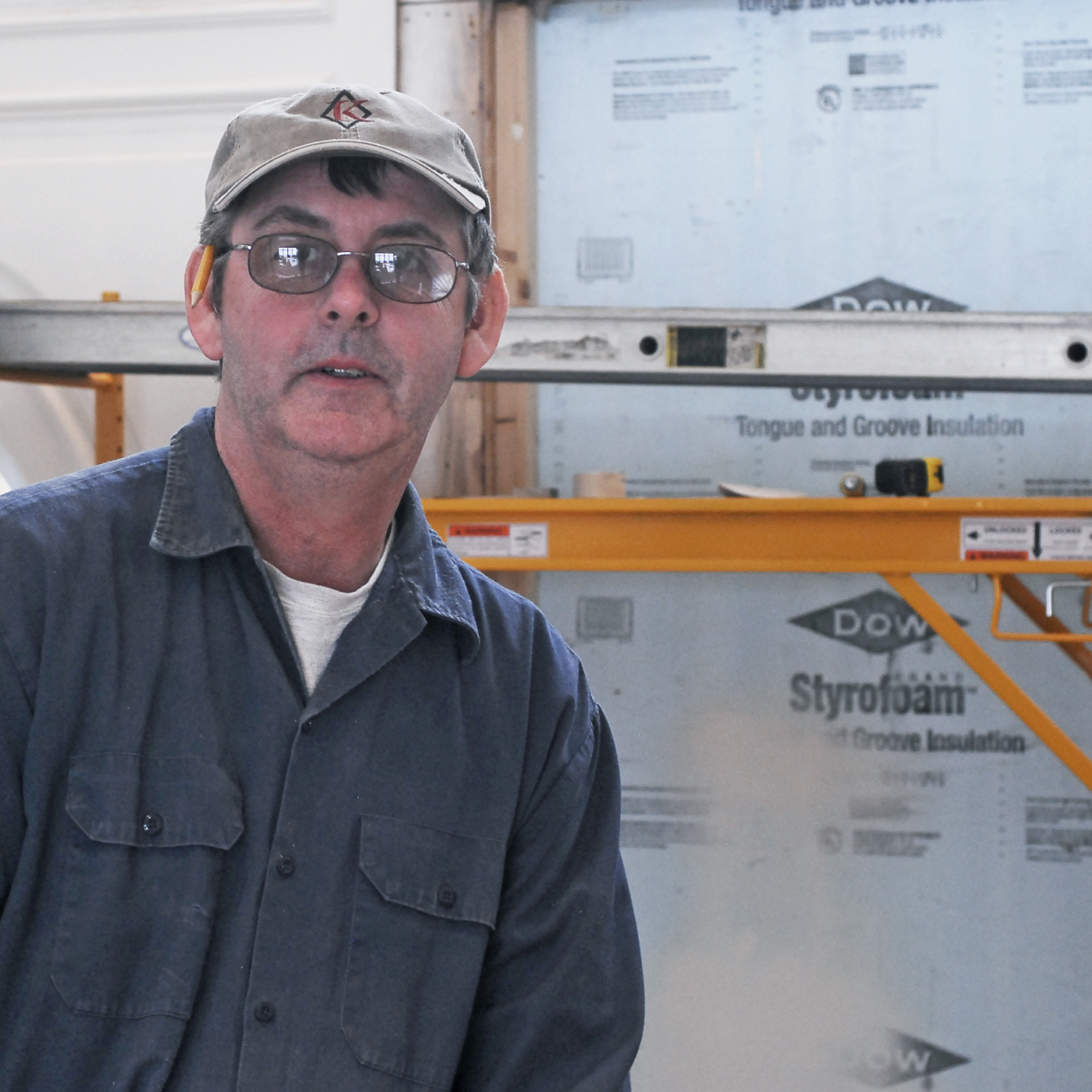 Ronny Hyson is a carpenter for Knickerbocker Group