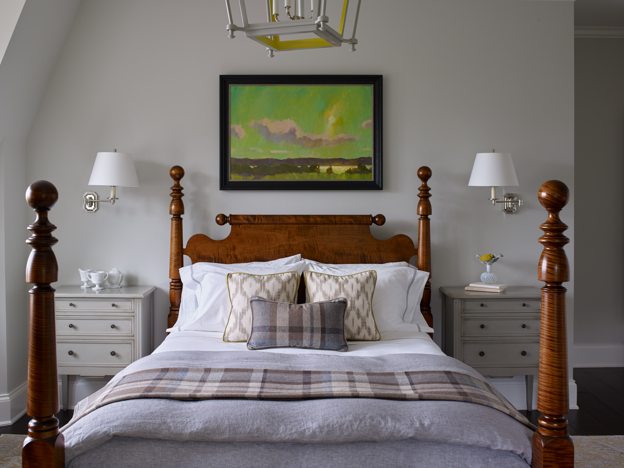 Bedroom at Salacia home with cozy accents