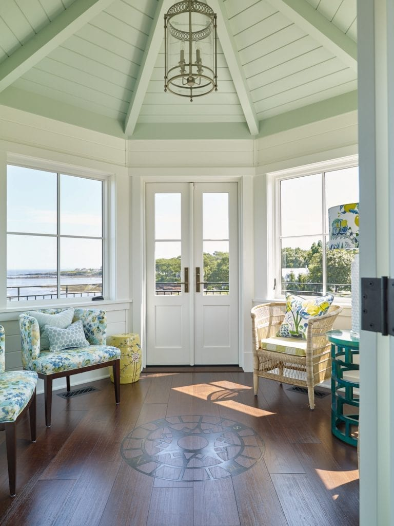 A view of the look-out room with unobstructed coastal Maine sights for miles.