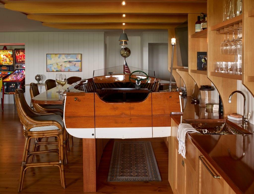 A visual of the nautical themed bar at Salacia.