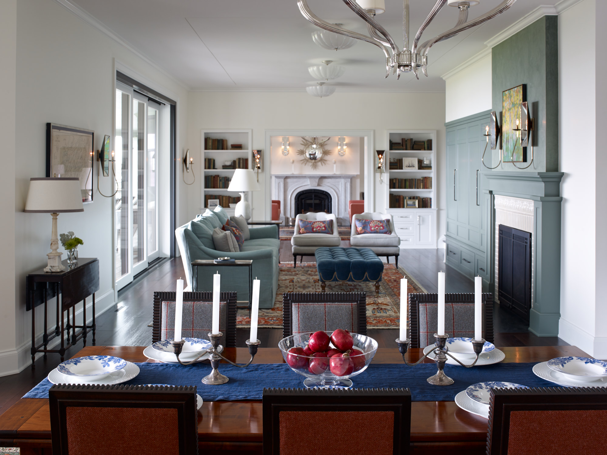 Formal dining area with open view to living spaces.