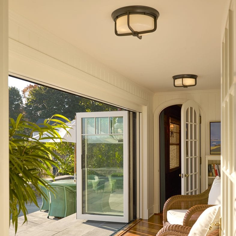 Stacker patio doors for indoor outdoor living.