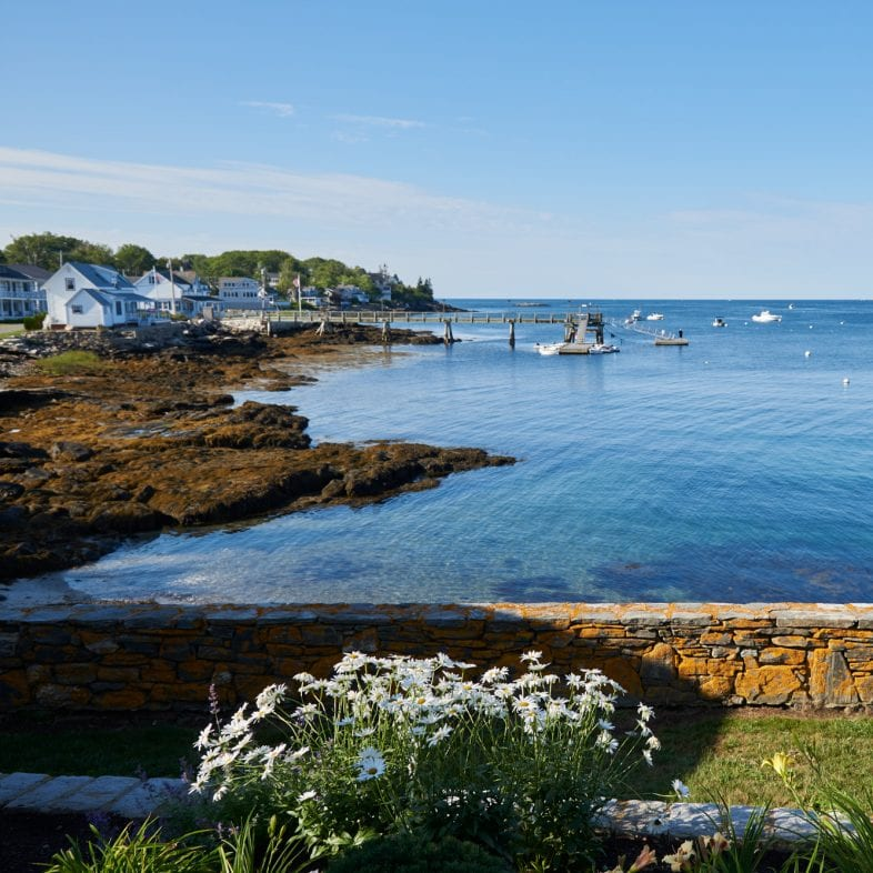 Beautiful coastal Maine views from patio.