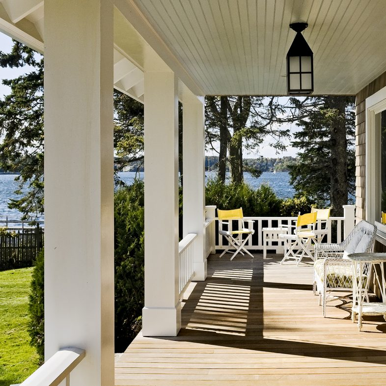 Expansive porch with water views at Grandview