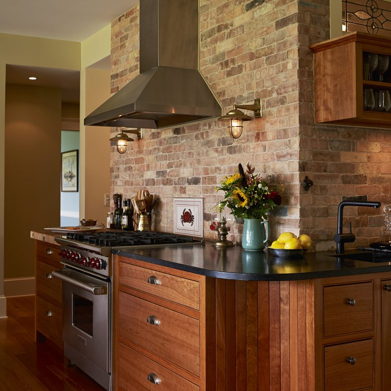 Rustic style kitchen in the Highfields home